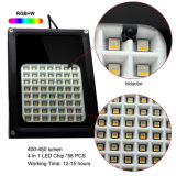 IP65 impermeabilizzano il colore solare di RGB del proiettore del LED che cambia l'indicatore luminoso solare del giardino di paesaggio dell'inondazione di telecomando 56 LED