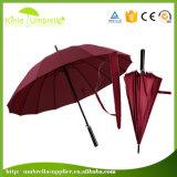 À une seule couche anti parapluie droit UV de fibre de verre de 27inch x de 8K