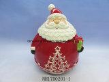 Керамические Санта-Jar для хранения рождественские украшения