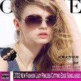 3702 Nouvelle mode Lady sans rebord tranchant des lunettes de soleil