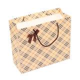 Sac de papier estampé par luxe d'achats faits sur commande de cadeau avec Logo&#160 ;