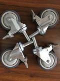 """4つは""""二重ブレーキ、TPEの車輪が付いている足場足車をカスタマイズする"""