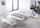 ヨーロッパデザイン贅沢で白いダイヤモンドのベッド