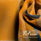 100% poliéster impresión Plaid Chiffon tela para damas blusa