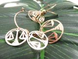 Women Oorring van de Weegschaal van de Schalen van het Saldo van de Kleur van de Juwelen van toebehoren de Imitatie Gouden