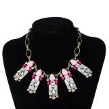 Nouveau mode de Bohême de pierres multicolores femmes NECKLACE Bijoux artificielle