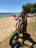 """20 """" سريعة [هي بوور] إطار العجلة سمين يطوي كهربائيّة شاطئ درّاجة"""