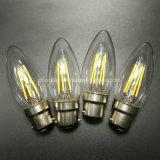 C35 blanco cálido, B22 B15 de la luz de velas LED regulable de Vela de filamentos para lámparas de araña
