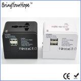Chargeur de voyage universel USB Adaptateur de courant AC/DC en blanc (XH-UC-026)