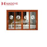 Qualitäts-chinesische Art-ausgeglichenes Glas-Schiebetür