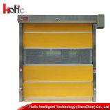 Промышленные двери штарки завальцовки PVC высокоскоростные электрические свертывают вверх дверь