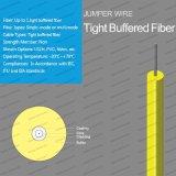 屋内堅い緩衝されたLSZH/PVCの光ファイバケーブルのジャンプワイヤー