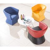 Colorfull Gewebe-Lehnsessel für Kaffeestube mit Tisch