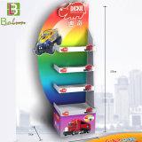 La pantalla de palets de cartón ondulado para juguetes con estantes ajustables
