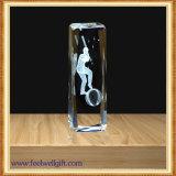 Animal de encargo del trofeo del vidrio cristalino