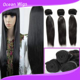 Großer auf lager roher indischer Grad-indisches Menschenhaar-gerade Großverkauf-Inder-Haar des Haar-8A