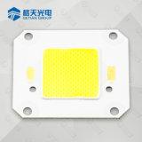 Blanco puro de la MAZORCA LED 4046 de la eficacia alta 50W para luz de la bahía de la luz de inundación la alta