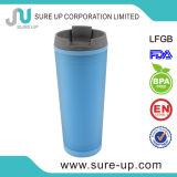 Кружка голубой стены двойника цвета пластичная (MPUC)