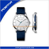 Relógio de pulso de vidro da forma do vintage da safira do relógio do caso especial