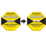 El envío de las etiquetas de marca Shockwatch Amarillo 25g de la etiqueta de impacto