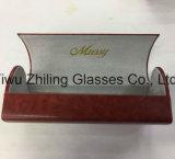 Cassa fatta a mano di vetro del contenitore di occhiali da sole di figura del cuore