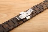 Ultra delgado de madera hechos a mano accesorios Sandalia negra de la banda de Apple para Smart Watch