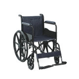 Fauteuil roulant manuel en acier se pliant d'hôpital d'unité centrale de portée de roue Handicapped de magnétique