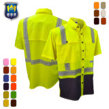 La protección de la UPF Ripstop de manga corta viento camisa de trabajo de diseño duradero