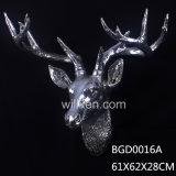 Decoración principal animal de la pared de la pista animal de los ciervos de Esin/de la resina casera de la decoración