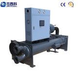 Refrigerador refrigerado por agua industrial del tornillo con el compresor simple o doble semihermético