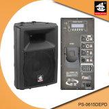 15 дюймов 350W цифров AMP Bluetooth EQ для диктора PS-0615depd PA Active iPod пластичного