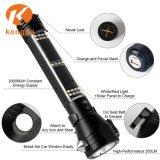 3W CREE Lanterna LED recarregável Solar com bússola, carregador USB, a faca e o martelo de segurança