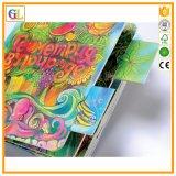 Stampa poco costosa variopinta del libro della scheda dei bambini (OEM-GL023)