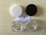 Vaso cosmetico di plastica del vaso crema di plastica con il coperchio a vite per la crema di cura di pelle
