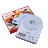 Белые электронные кухонные весы цифровой шкалы продовольствия