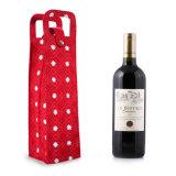 Хлопчатобумажной ткани печати женская сумка вина, сувенирные вина Bag