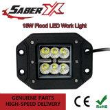 Étanche 18W à LED d'inondation des phares de travail de l'oreille pour les véhicules hors route