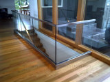 U de Balustrade van het Gewapend glas van de Systemen van het Traliewerk van het Glas van het Aluminium van het Profiel