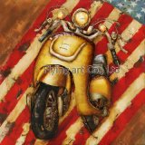 Homedecorative pintura a óleo Wall Art para motociclo