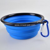Cuvette annexe de l'eau de nourriture de chienchien de silicones de la Chine d'approvisionnement de crabot d'animal familier