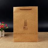 Sacs à provisions estampés de papier de Brown de bonne qualité avec des traitements