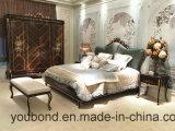 0070-1 단단한 나무는 높은 광택 색칠 침대로 호화스러운 베니어를 덮었다