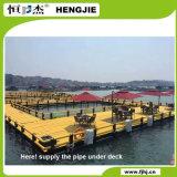 Ozean-Freizeit-Fischen unter Plattform HDPE Rohr