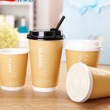 習慣12oz 16のOzのPSのふたが付いているペーパーコーヒーカップ