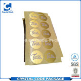 Долгосрочного моделирования золотая фольга наклейки этикеток