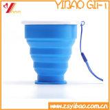 Tazas plegables del silicón de la fábrica FDA del silicón fáciles llevar (XY-SD-174)