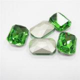 옷을%s 샴 장식적인 타원형 모조 다이아몬드 유리제 수정같은 돌