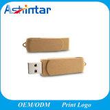 종이 USB 플래시 메모리 Eco는 비틀어진 사람 USB 섬광 드라이브 회전대 USB 지팡이를 재생한다