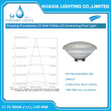 AC12V calientan la luz subacuática blanca de la piscina de 24W PAR56 LED