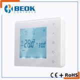 Termóstato sin hilos de la caldera del sitio de la pantalla táctil para el sistema de la calefacción por agua